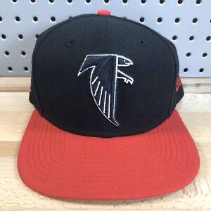 Atlanta-Falcons-NFL-Football-New-Era-9FIFTY-Black-Snap-Back-Cap-EUC-OSFM-Hat