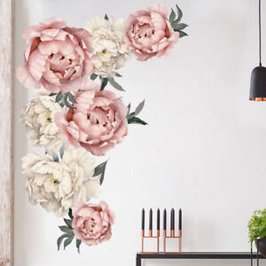 Details About Individual Peony Rose Flower Wall Art Sticker Nursery Decor Kids Room Decal Gift