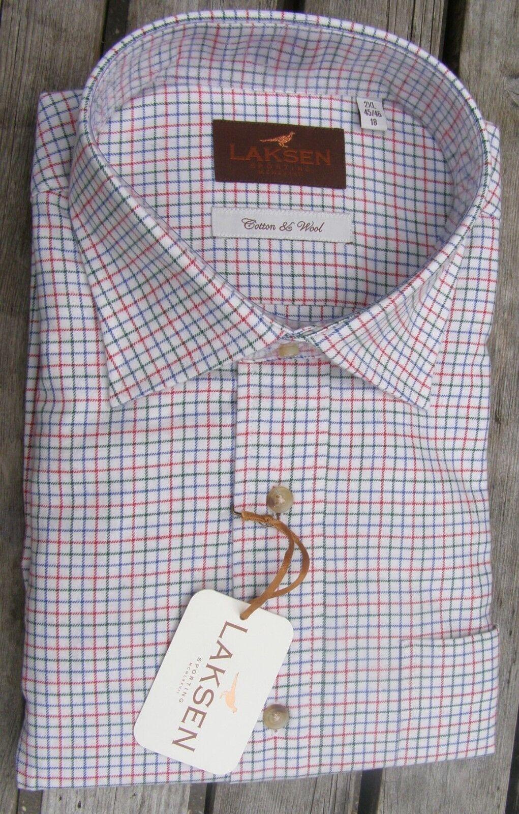 Laksen Men's Alex Shirt  15  S Cotton wool blend for extra warmth