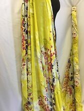"NEW Floral Chiffon Panel Print Fabric 57"" 143cm Dress Scarf Material Cloth Art"