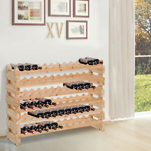 HOMCOM-Wood-Wine-Rack-Display-72-Bottles-Holder-Storage-Stand-6-Tier-Shelves