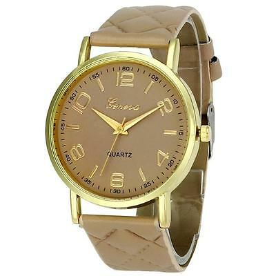 Women Casual Geneva Watch Quartz Analog Wristwatch Leather Band Sport Watches