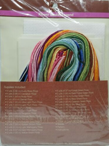 """981456 /""""Flower Basket Legend/"""" Mini Cross-Stitch Kit by Artiste Needle Art"""