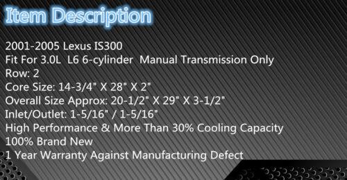 Aluminum Radiator Shroud /& Fans  For 2001-2005 Lexus IS300 3.0L 2002 2003 2004