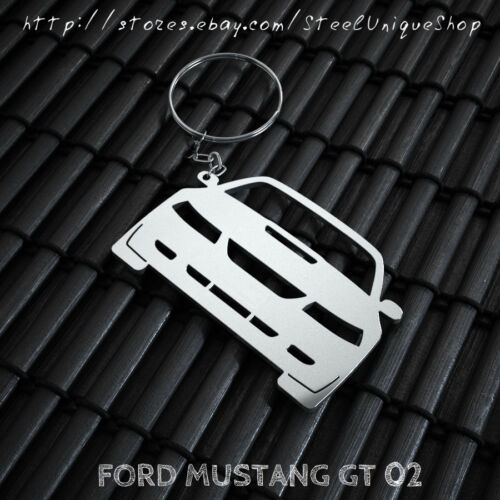 Ford Mustang GT 02 Stainless Steel Keychain