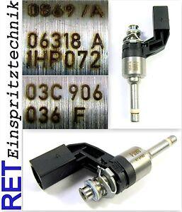 Einspritzdüse Magneti Marelli 03C906036F VW Golf 5 1,4 TSI gereinigt & geprüft