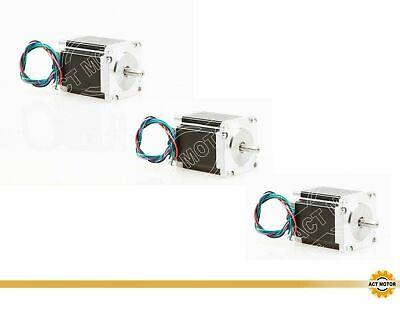 DE Free 3PCS Nema23 Schrittmotor 23HS8450-23 5A 76mm 1.9Nm D-Shaft Φ8mm 270oz-in