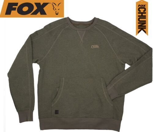 Angelbekleidung Pullover & Sweaters Fox Chunk Crew Pouch Sweatshirt Green Marl Pullover