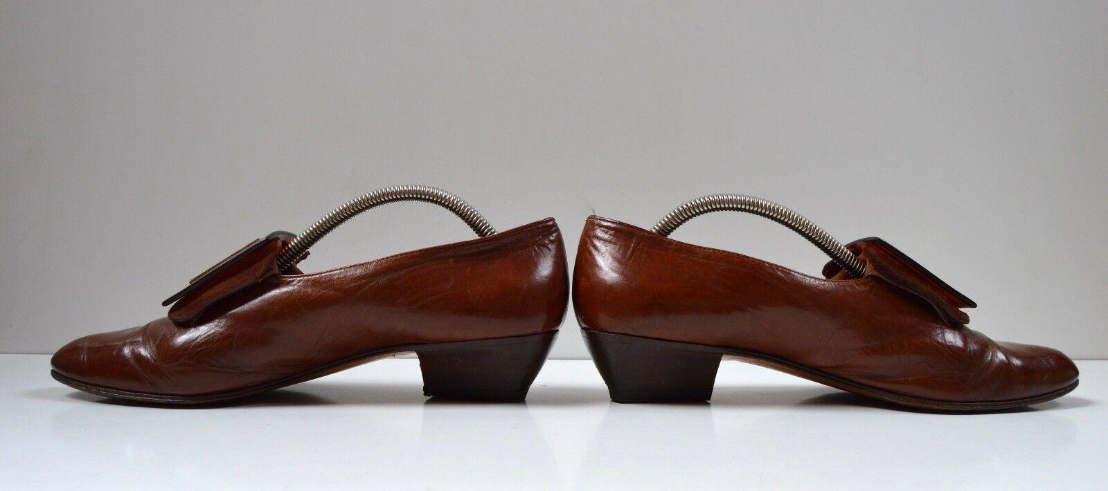 Theil Schnallenschuh made in italy braun Halbschuhe True Vintage loafer spitz