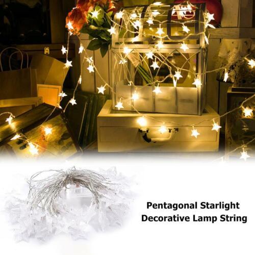 10//20LED Santa Claus String Lights Fairy Christmas Party Decor Xmas Wedding Lamp