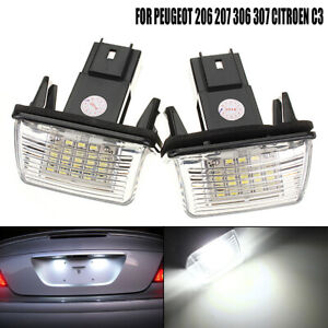 2pcs-NO-ERROR-LED-LICENSE-NUMBER-PLATE-LIGHT-FOR-PEUGEOT-206-CITROEN-C3-C4-XSARA