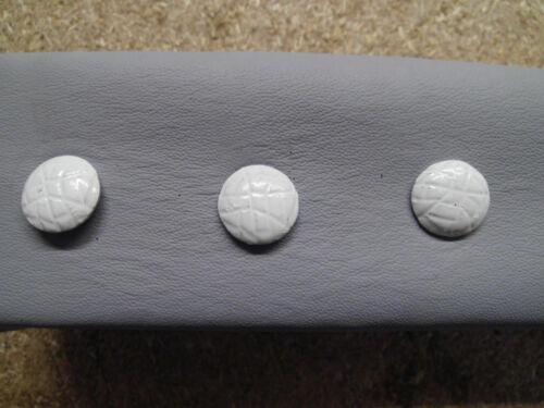 75 Ziernägel//Polsternägel weiss genarbt   Lederimitat 13mm