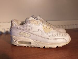 buying now new products new products Vintage Nike Air Max 90 White Leather Trainers - Men's UK 7 ...