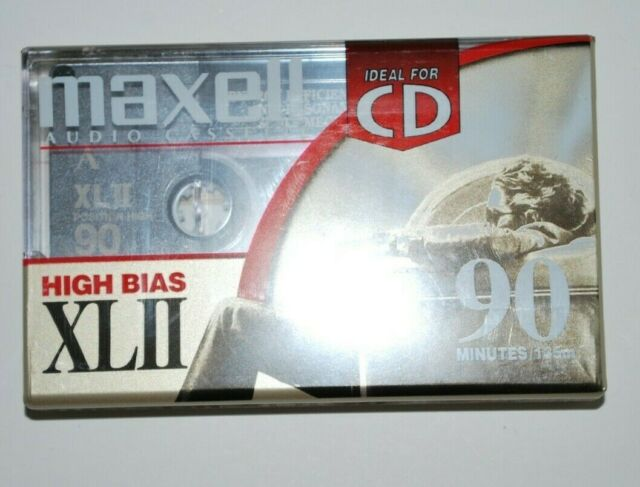 Maxell High Bias XLII90 Minute Blank Audio Cassette Tape Ideal For CD - New