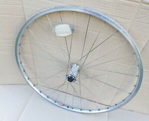 "Front Mountain Bike Wheel 26"" Silver QR / Rim Brake Replacement - Retro Made USA"