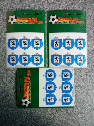 18 x Autoaufkleber Wappen TSV 1860 München 57-58-59-60!
