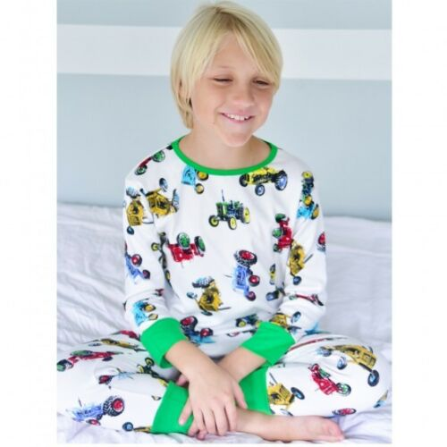 Boys Tractor Skinny Fit//Long-John Style 100/% Soft Jersey Cotton Pyjamas//Pajama