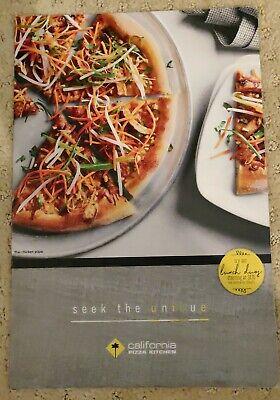 California Pizza Kitchen Restaurant Menu Laminated 1 2 Ebay