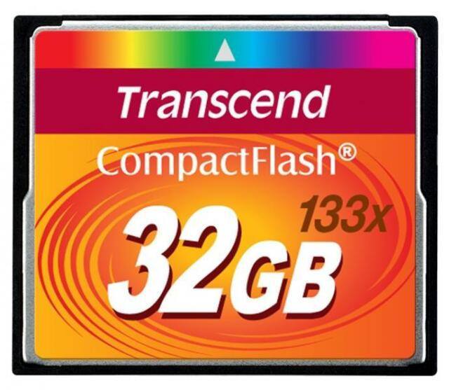 32 GB Transcend CompactFlash 133 x carte mémoire Flash de vitesse