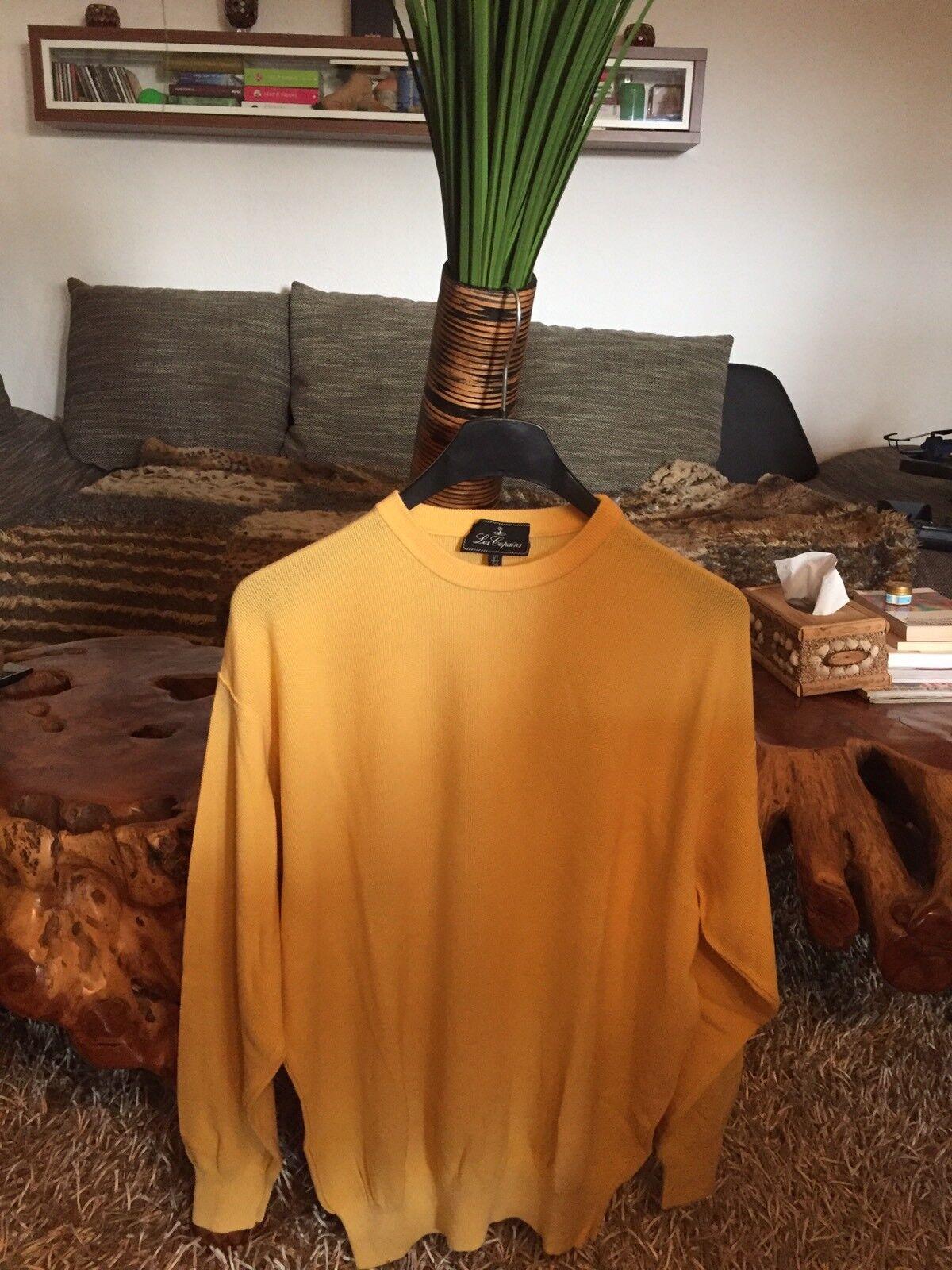Les Copains Herren Pullover Gr.54 gelb Top Design