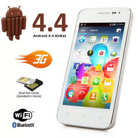 UNLOCKED! Latest Android 4.4 Kitkat GSM Quadband AT&T T-mobile Smart Cell Phone