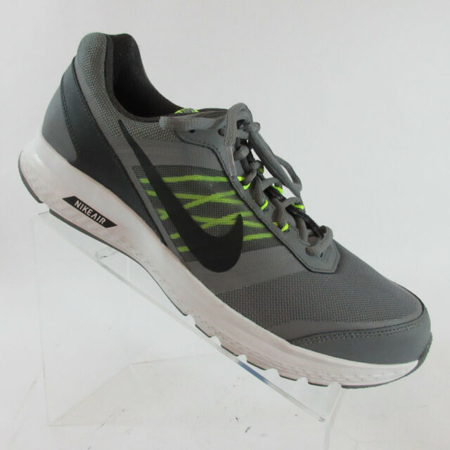 26f6aea4edbc1 Nike Air Relentless v 5 Gray/Black/Green Running Shoes 807092-002 Mens Size  12