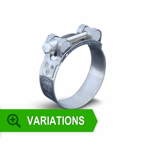 TBOLT Hose Pipe Clamp Clips Select Your Size Stainless Steel T bolt clamps