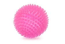 Ancol Neon Rosa cresta in gomma dentale Chewy riflettendo Dog Puppy Fetch BALL 9cm