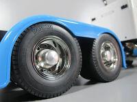 Tamiya 1/14 Semi King Hauler Scania Pair Aluminum Rear Hubs Cover Wheel Rim Nut