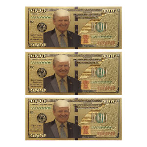 US-President-Donald-Trump-New-Colorized-1000-Dollar-Bill-Gold-Foil-Banknote-ON