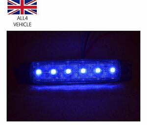 6x-12V-LED-6SMD-AZUL-INTERMITENTE-LATERAL-LUCES-PARA-TRAILER-CAMIoN-AUTOCARAVANA