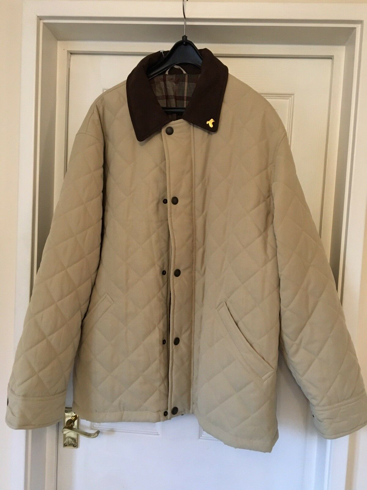 DESIGNER JOHN PARTRIDGE  IMMACULATE HANDMADE QUILTED COAT Size L