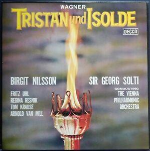 Wagner - Tristan und Isolde, SOLTI, NILSSON, Decca SET 204-8, 6 LP Box, STEREO