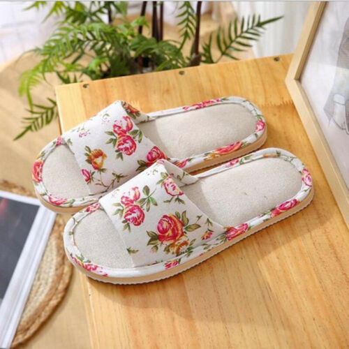 Women/'s Home Bedroom Non Slip Shoes Casual Warm Printed Comfy Indoor Slippers