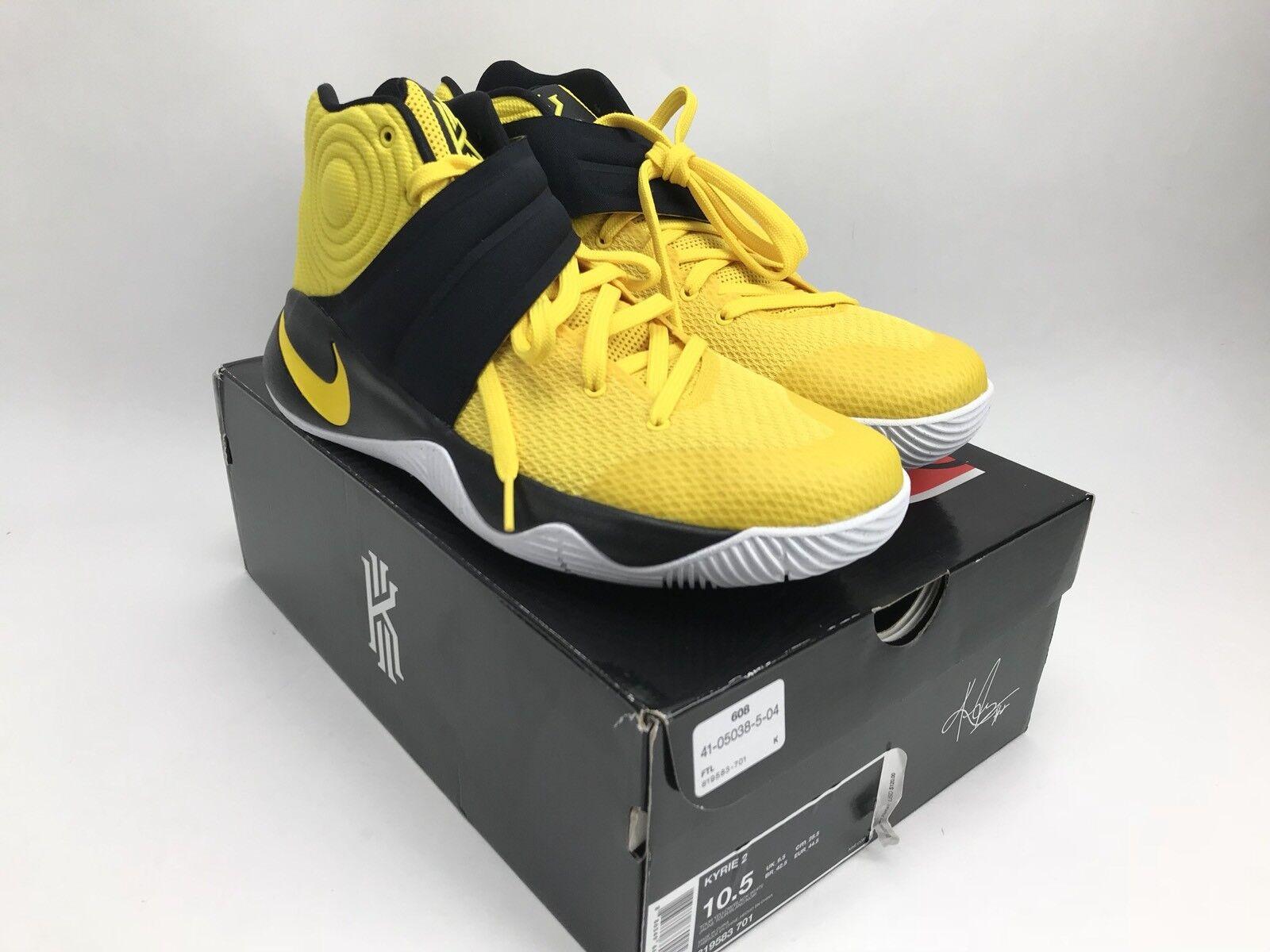 Nike Kyrie 2 Australia Tour Basketball Shoes Sizw 10.5 Yellow Black 819583 701