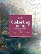Posh Adult Coloring Book Thomas Kinkade Peaceful Moments