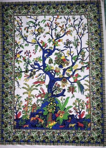 ICC Blue Mandala Tree of Life Poster Bohemian Ombre Psychedelic Hippie Mandala