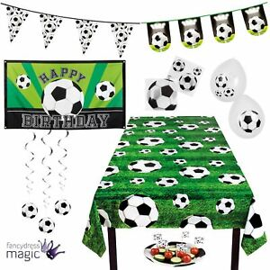 Football-Soccer-Party-Decoration-Partyware-Tableware-World-Cup-Bunting-Balloons