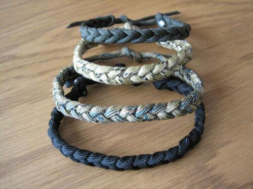 Paracord Slim Friendship Bracelet Wrist Band Survival Army Many Colours 2 choose