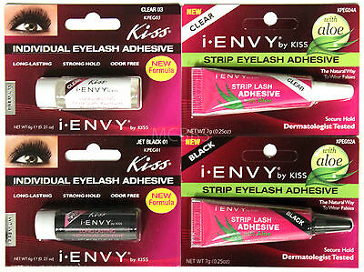KISS I-ENVY 100% HUMAN HAIR REMI EYELASH GLUE ADHESIVE (CHOOSE FROM 4)