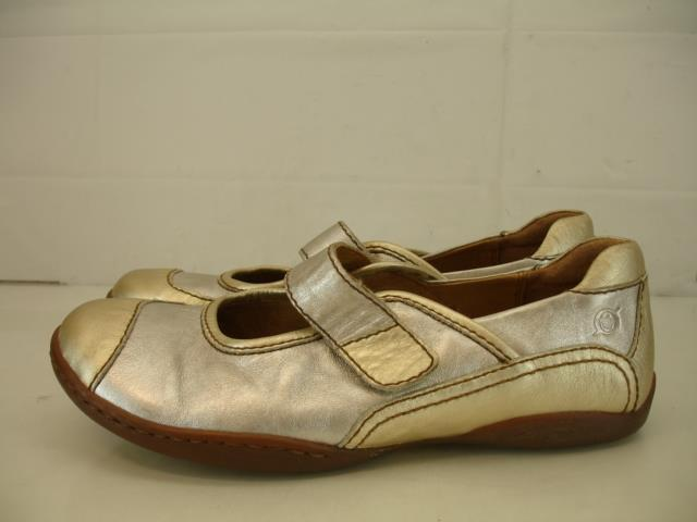Para mujer mujer mujer Talla 9 M nacido Andromeda Mary Jane Comodidad Zapatos Mocasines Cuero oro Plata  comprar nuevo barato