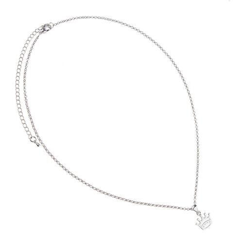 Mode Prinzessin Crown Anhänger Mädchen Charm Silber Halskette Schmuck