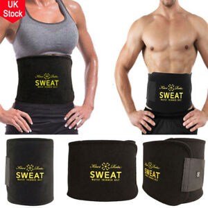 Mens Womens Tummy Waist Cincher Body Shaper Sweat Belt Trainer Slim Slimming UK