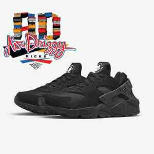 ccc68ee82ffd8 DS New Nike Air Huarache Low 318429-003 Triple black MEN run running ...