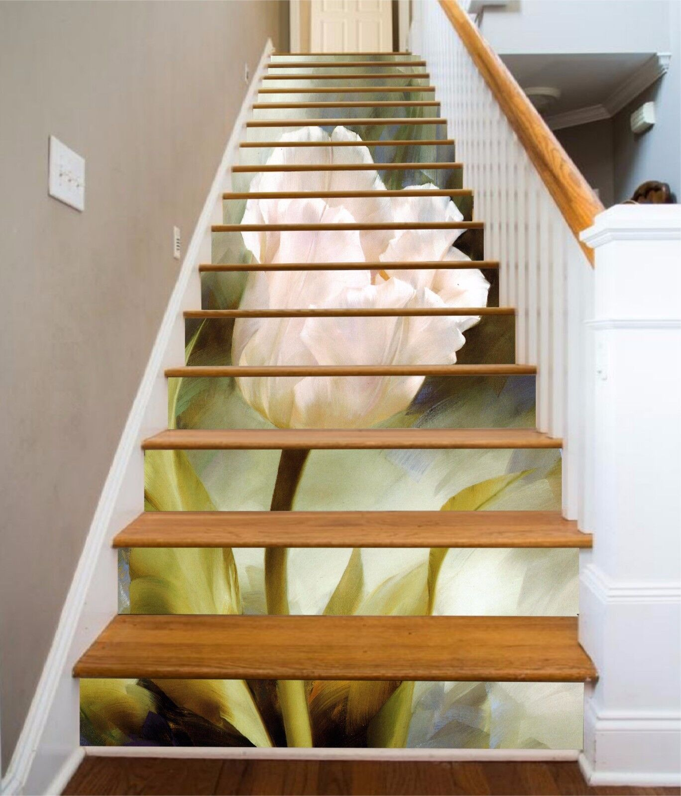 3D Elegant Flower 1 Stair Risers Decoration Photo Mural Vinyl Decal Wallpaper UK