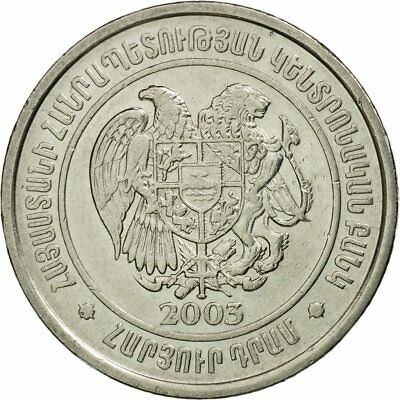 Au Straightforward 2003 #536567 Km:95 100 Dram Armenia Nickel Plated Steel 50-53 Coin