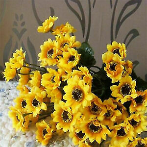 2pcs-Head-Fake-Sunflower-Silk-Flower-Bouquet-Home-Wedding-Floral-Decor