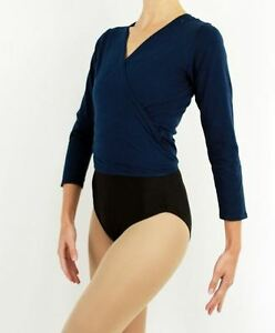 MakAmy-Child-Cross-Over-Top-Longsleeve-Navy-Ballet-Dance-Jazz-sz10-BNWT-17
