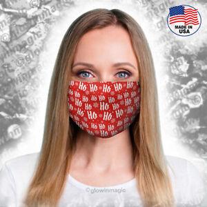Ho-Ho-Ho-Christmas-face-mask-Snowflakes-Santagift-wrap-Reusable-Free-Shipping