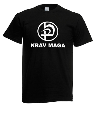 Herren T-shirt Krav Maga Kampfsport Logo Größe Bis 5xl